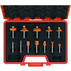 CMT 12-Piece Router Bit Set With Case Hw S=6,35