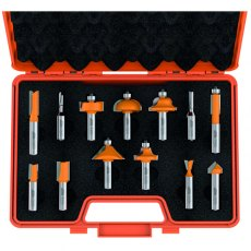 CMT 13-Piece Router Bit Set With Case Hw S=12,7