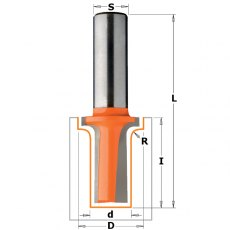 CMT Roundover Elongated Plunger Router Bit Hw Z2 S=12,7 D=12,7/2