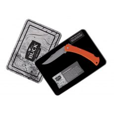 Buck Folding Hunter LT Knife - Topo Orange Collectors Tin