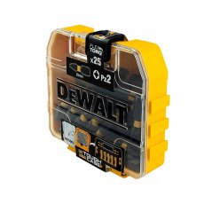 Dewalt DT7908 Torsion Pozidrive Bits PZ2 25mm Flip Box of 25