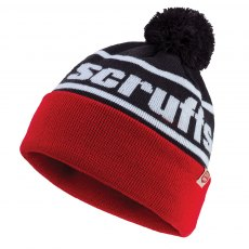 Vintage Bobble Hat Black / Red