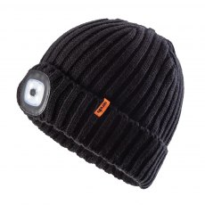 LED Knitted Beanie Black One Size