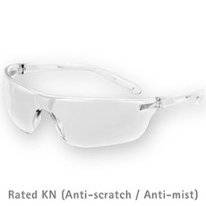 JSP Stealth 16g Clear K & N Rated Anti-Mist Safety Glasses