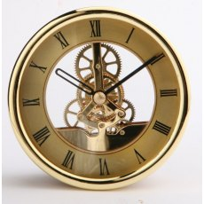 Gold skeleton clock 120mm