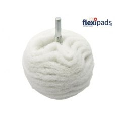 Flexipad Scruff Ball 75mm / 3in White Non-Scratch