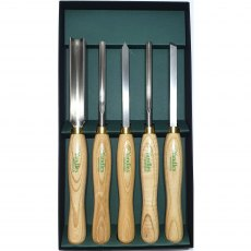 essentials 5 Piece WoodTurning Tool Set Ash Handle British Made HSS