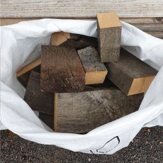 Oak Hardwood Firewood Bag Air Dried Timber Mixed Sack BBQ / Smoking Wood