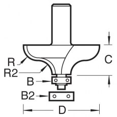 B/GUIDED OGEE 4.5MM RAD