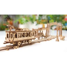 Ugears Tram Line Mechanical Wooden Model 3D Puzzle