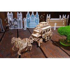 Ugears Stagecoach  Mechanical Wooden Model 3D Puzzle