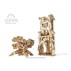 Ugears  Archballista-Tower  Mechanical Wooden Model 3D Puzzle