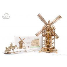 Ugears Tower Windmill  Mechanical Wooden Model 3D Puzzle