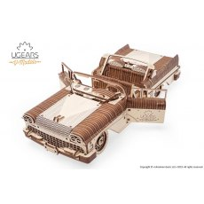 Ugears  Dream Cabriolet VM-05  Mechanical Wooden Model 3D Puzzle