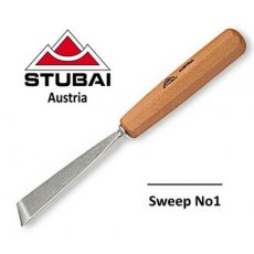 Stubai 20mm No1 Sweep Skew Carving Tool