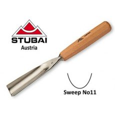 Stubai 10mm No11 Sweep Straight Carving Gouge