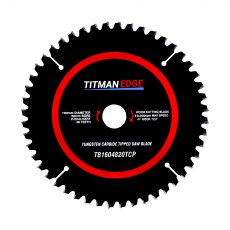TITMAN EDGE TOOLS - Trade Blade - 160mm diameter 48 tooth 20mm bore TCT fine finish blade for Plunge