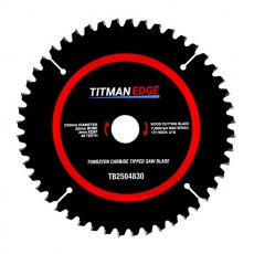 TITMAN EDGE TOOLS - Trade Blade - 250mm diameter 48 tooth 30mm bore TCT fine finish crosscutting saw