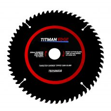 TITMAN EDGE TOOLS - Trade Blade -250mm diameter 60 tooth 30mm bore TCT fine finish crosscutting sawb