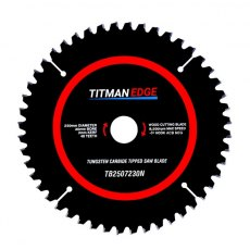 TITMAN EDGE TOOLS - Trade Blade -250mm diameter 48 tooth 30mm bore TCT extra fine finish mitre saw c