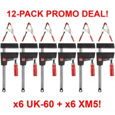 Bessey UK60 UniKlamp x12 CLAMP MEGA DEAL - x6 UK-60 + x6 XM5 Handy Clamps!