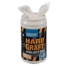 Draper 'Hard Graft' Wipes (Can of 30)