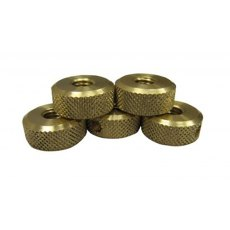 Planet Pen Mandrel Spares - Set of 5 Brass Nuts