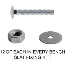 Yandles Bench Slat Fixing Kit - A2 Stainless Steel High Grade