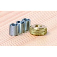 Planet PM3S Pen Mandrel Spares - Spacers 3pc, Brass Nut 1pc