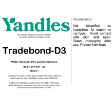 essentials Tradebond D3 Water Resistant Glue Fast Setting Joinery Adhesive