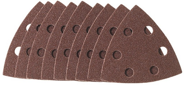 Draper DRAPER Ten 93 x 93 x 93mm 60 Grit Hook and Loop Tri Base Sander Sheets