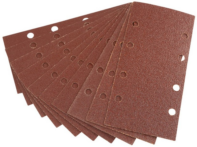 Draper DRAPER Ten 90 x 187mm Assorted Grit Aluminium Oxide Sanding Sheets