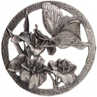 Craft Supplies Pewter Lid - Butterfly