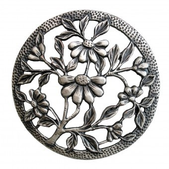 Craft Supplies Daisy Pewter Lid