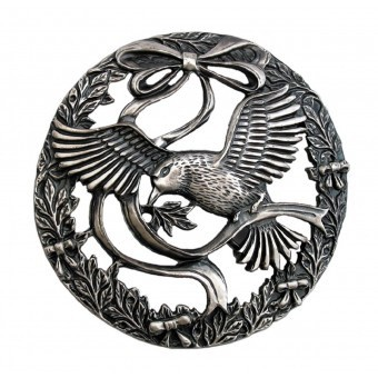 Craft Supplies Bird and Bow Pewter Lid