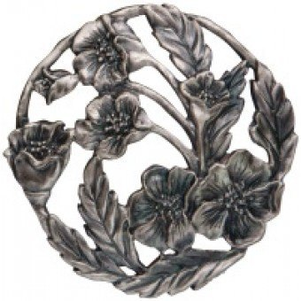 Craft Supplies Poppy Pewter Lid
