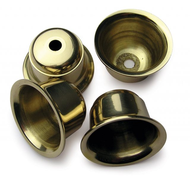 Craft Supplies Brass Candle Cups - 4 pack