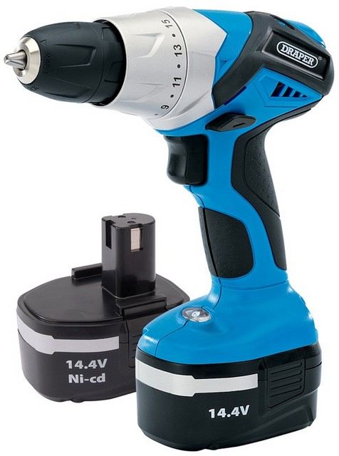 Draper DRAPER 14.4V Cordless Rotary Drill with Two Batteries 20494