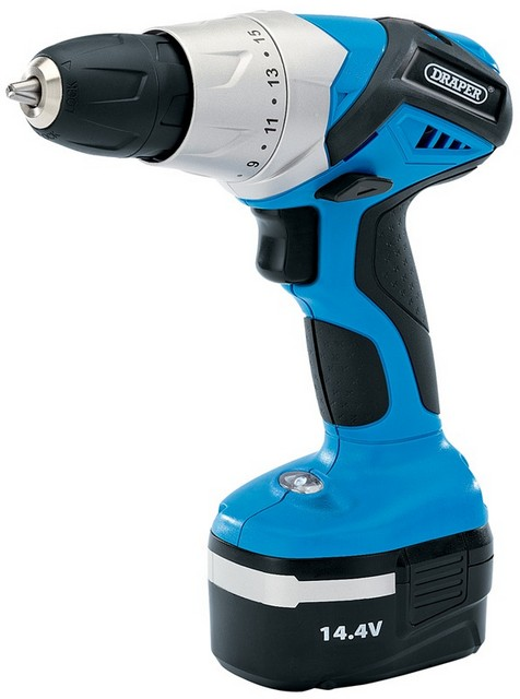 Draper DRAPER 14.4V Cordless Rotary Drill with One Battery