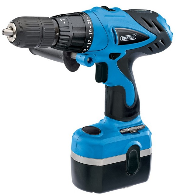 Draper DRAPER 24V Cordless Combi Hammer Drill with Two Batteries