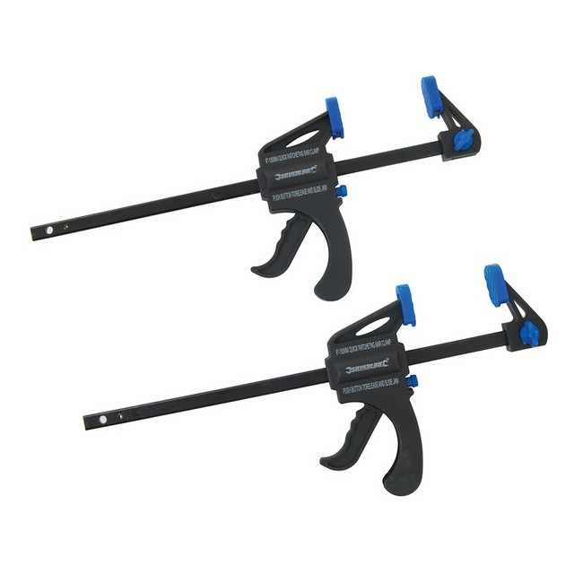 Silverline Mini Clamps 2pk                                                        150mm