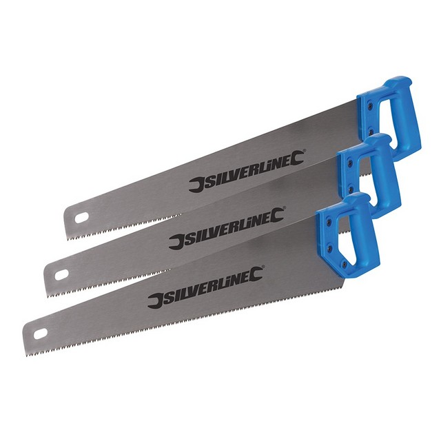 Silverline Handsaws 3pk                                                           3 x 550mm 7tpi