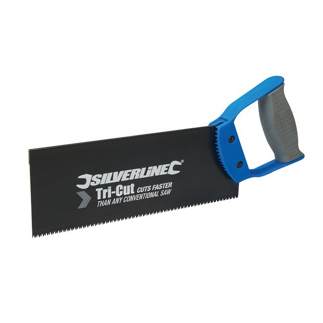 Silverline Tri-Cut Tenon Saw                                                      250mm 12tpi