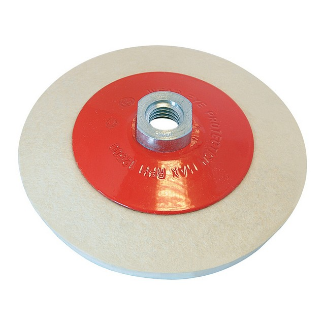 Silverline Bevelled Felt Buffing Wheel                                            115mm