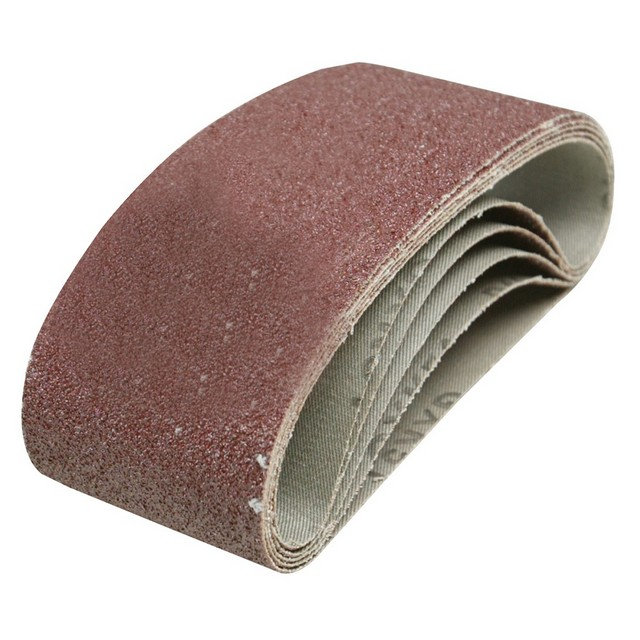 Silverline Sanding Belts 75 x 457mm 5pk                                           40 Grit