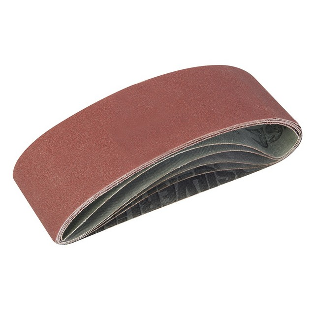 Silverline Sanding Belts 75 x 533mm 5pce                                          Assorted Grit