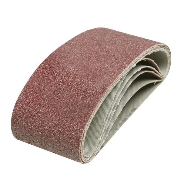 Silverline Sanding Belts 65 x 410mm 5pk                                           40 Grit