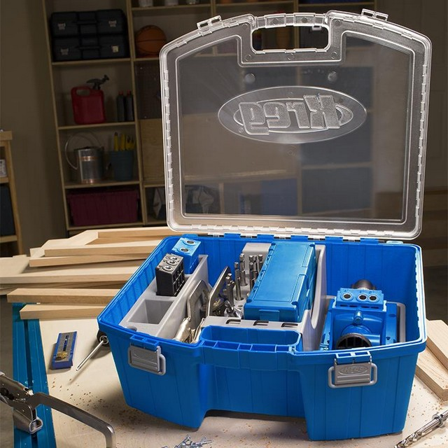 Kreg Tool KTC55 Jig System Organizer with Large Handle and Transparent Lid
