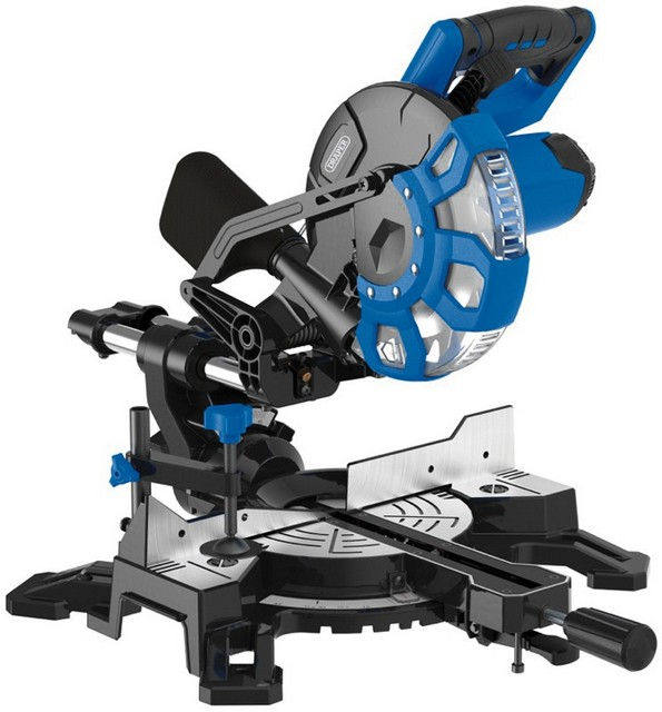 Draper DRAPER 210mm 1500W 230V Sliding Compound Mitre Saw with Laser Cutting Guide