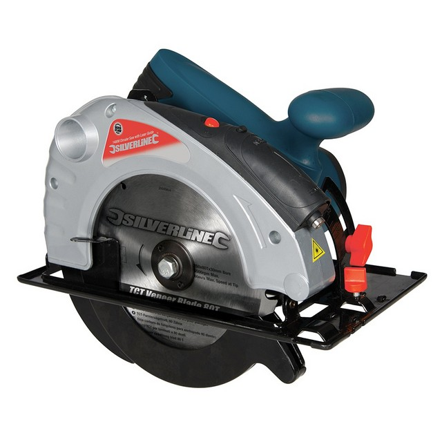 Silverline Silverstorm 1400W Circular Saw with Laser Guide 185mm 185mm